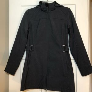 Free Country Gray and Black Hooded Coat/ Jacket